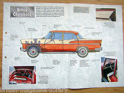 Simca Chambord - Technical Cutaway Drawing