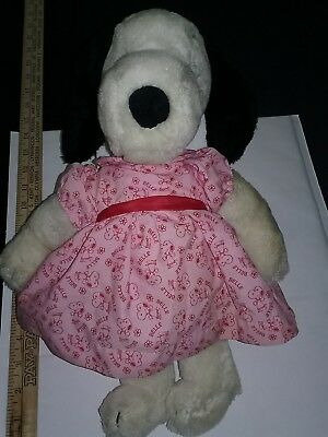 """Vintage Collectible 15"""" BELLE, SNOOPY'S SISTER, WITH ORIGINAL DRESS Plush Toy"""