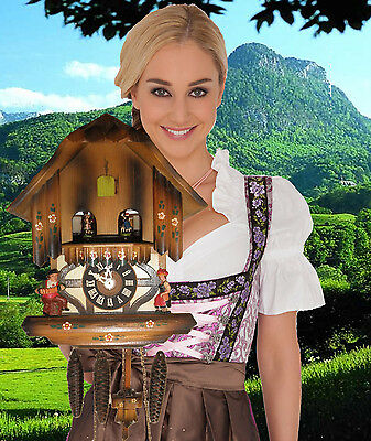 Cuckoo Clock German Black Forest working SEE VIDEO Musical Chalet 1 Day CK2207