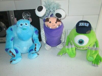 Monsters Inc Large James P Sullivan  Sulley Mikey Boo Disney Plush Soft Toys