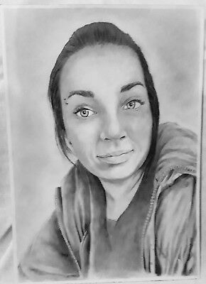 Custom A4 Pencil Portrait Drawing From Photographs, Commission, Personalized