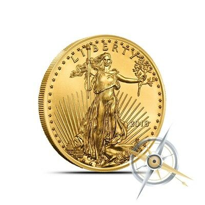 2018 American 1/4 Troy Oz $10 Gold Eagle Coin - Gem Uncirculated (BU)