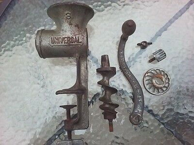 Antique LF & C Meat Grinder Hand Tabletop Clamp Chopper Universal 3 USA Made