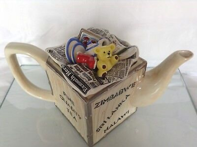 Cardew Sunshine Ceramics 1987 Collectable Novelty Lge Teapot Teddy Moving Crate