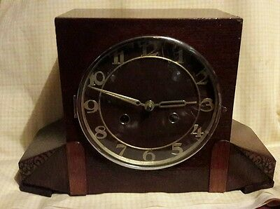 Haller 2Key Striking Mantle Clock Complete With Pendulum & Key In E.w.o Ha67