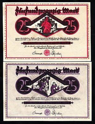 Germany 25 Mark 1922 Notgeld Dortmund AU/UNC Notes