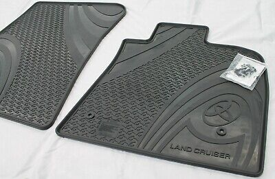 Toyota Landcruiser Front Floor Mats Rubber 2007-2012 200 Series New Genuine Pair