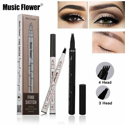 3Colors Eyebrow Pen Tattoo Super Waterproof  Smudge-proof Eye Brow Pencil