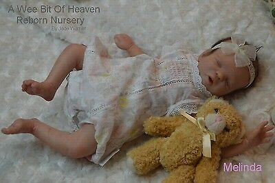 "Melinda By Jade Warner 15"" Ltd Ed Reborn Baby Unpainted Kit"