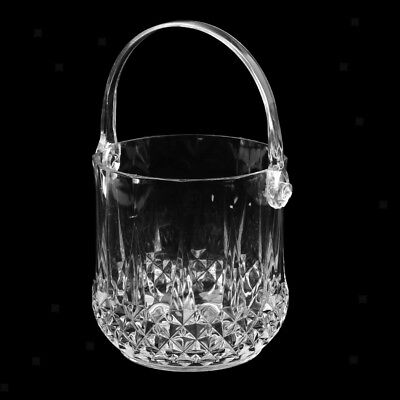 Barware KTV Ice Bucket Transparent Champagne Portable Handle Ice Bucket