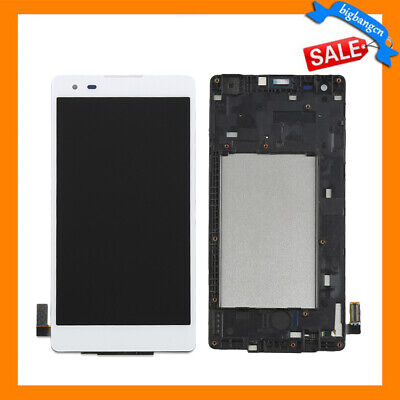 LCD Screen & Touch Digitizer Assembly + Frame For LG Tribute HD LS676 white