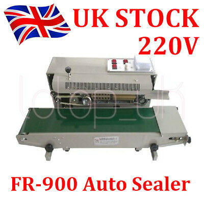 Fr900 Automatic Horizontal Continuous Plastic Bag Band Sealing Sealer Machine Uk