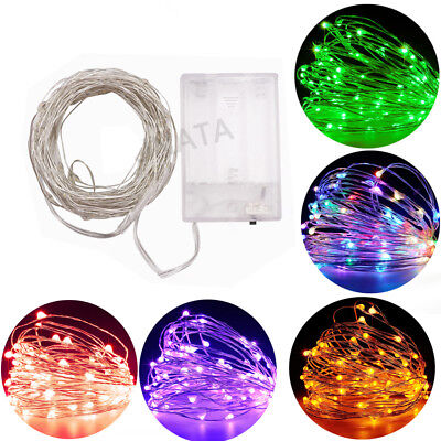 LED String Fairy Lights Wedding Party Spring Battery Decoration Warm White
