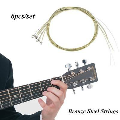 Bronze Steel Strings For Guitar Bright Tone Instrument Part Music Accessories