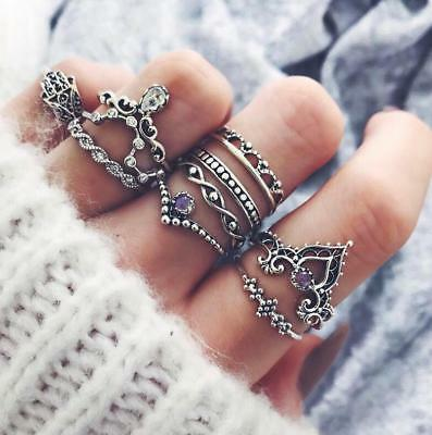 Wholesale 10pcs/set Bohemian Midi Finger Jewelry Vintage Knuckle Rings for Women