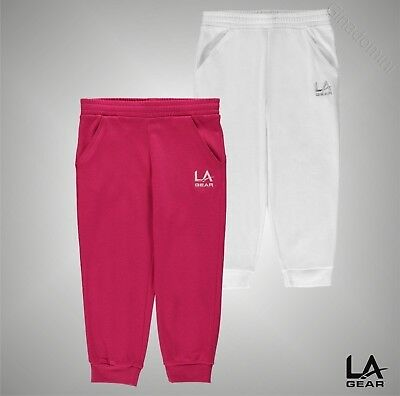 Girls LA Gear Casual 3/4 Interlocked Pants Bottoms Sizes Age 7-13 Yrs