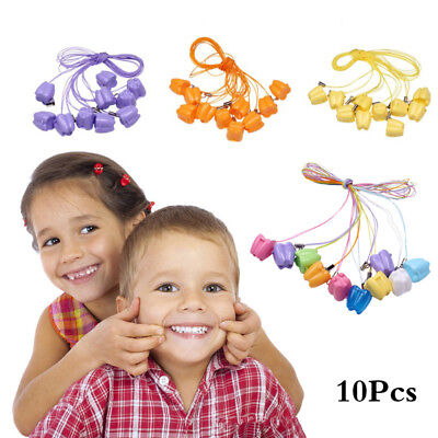 10PCS Lovely Teeth Storage Box Baby Milk Tooth Organizer with Necklace Case