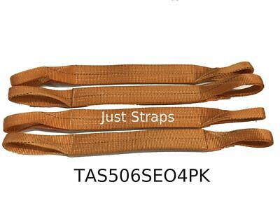 Just Straps Car Transport Axle Strap Orange c/w Sewn Eyes 4 Pack