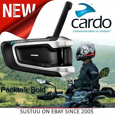 Cardo Scala Rider Packtalk Bold Solo│Motorcycle/ Bike Intercom│Bluetooth Headset