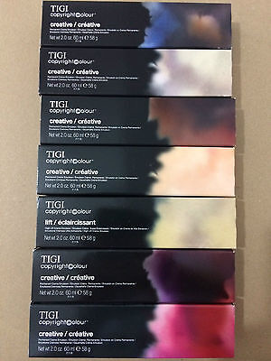 10 x TIGI copyright colour creative Permanent Creme Hair colour 60ml