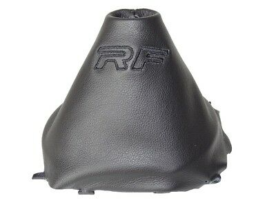 "Shift Boot For Mazda MX-5 Roadster ND MK4 2014-2018 Leather ""RF"" Black Logo"