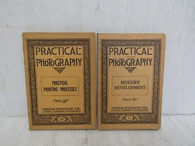 Lot of(2)Practical Photography Manuals #10-Printing Process&#11 Development-1923