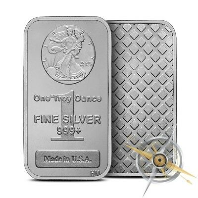 1 Oz .999 Fine Highland Mint (HM) Silver Bar Walking Liberty Design New & Sealed