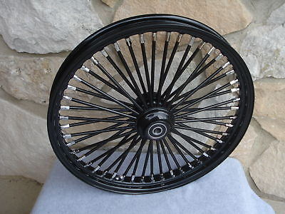 21X2.15 Blackout Fat King 48 Spoke Front Wheel For Harley Softail Wide Glide 00-