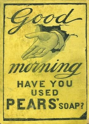 Vintage Pears Soap Georgian Barber Shop Advertising Poster A3 Reprint
