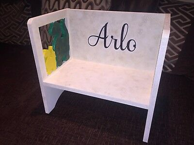 personalised childrens wooden chair childrens furniture dinosaur