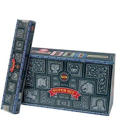 Nag Champa Super Hit - Bastoncini d'Incenso,Confezione 12 scatole incensi