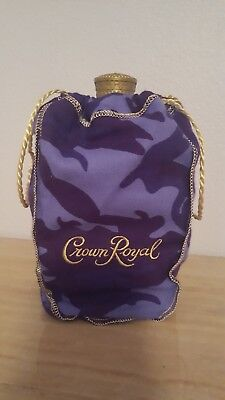 Crown Royal Purple Bag Camo Camouflage Draw String