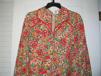 Dress Flower Prints Maternity Cotton Size S Pre-owned Vintage