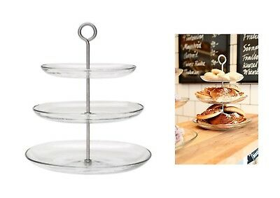 Ikea Kvittera 3 Tier Cake Stand Cupcake Serving Canapes Afternoon Tea Coffee Bun