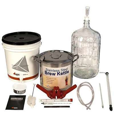 BSG HandCraft K6BPKIT Gold Beer Equipment Kit with 6 Gallon GlaCarboy & Brew Pot
