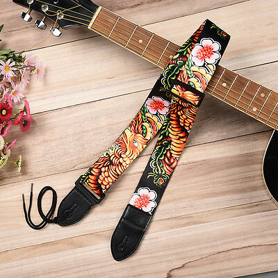 King Long Phoenix Guitar Strap for Electric Acoustic Bass Adjustable Soft Thick