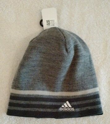 a2ca69acdc5 ADIDAS Men s Eclipse Reversible Beanie  ClimaWarm Hat   One Size   Gray -  NWT