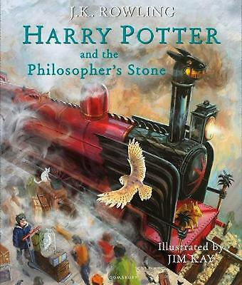 Harry Potter and the Philosopher's Stone (Illustrated Edition) by J.K. Rowling H