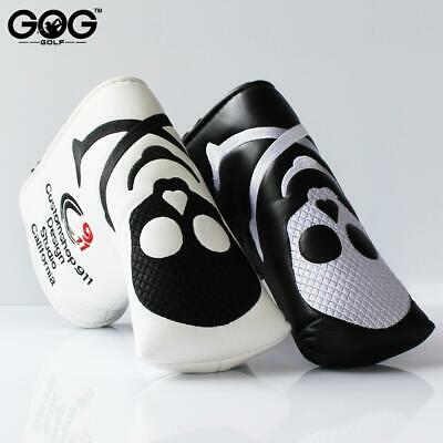 GOG New Two Colors Skull PU Golf Headcover  for Blade Golf Putter Free Shippi...