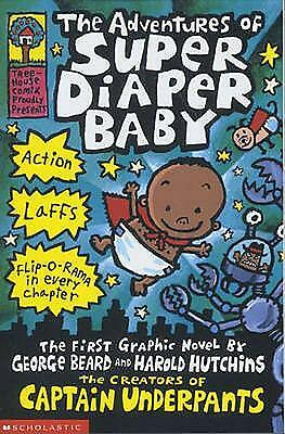The Adventures of Super Diaper Baby by Dav Pilkey Paperback Book Free Shipping!