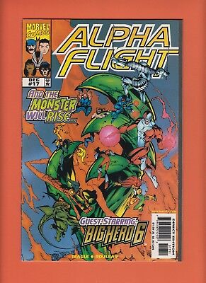 Alpha Flight 17 Marvel 12/98 1st app Big Hero 6 Team Low Print Run A3