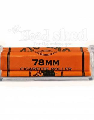 1x Zig-Zag Orange 78mm Rolling Machine - Rolling CIgarette Paper Easy Fast Roll