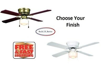"Turn of the Century Eros 42"" Flush Mount Ceiling Fan Reversible Quiet CHOO.."