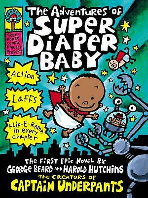 Adventures of Super Diaper Baby by Dav Pilkey Hardcover Book Free Shipping!