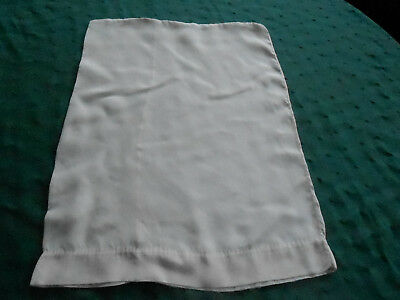Antique Handmade Baby Pillowcase, Ivory Color Silk, Circa 1920