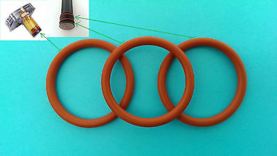 Delonghi Brew group 3x O-Rings / Gaskets + silicon grease