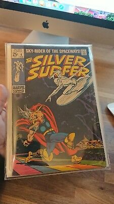 The Silver Surfer Vol 1 #4 Thor iconic cover low print run nice copy