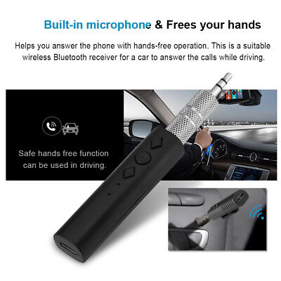 Wireless Bluetooth 3.5mm AUX Audio Stereo Music Home Car Receiver Adapter New AF