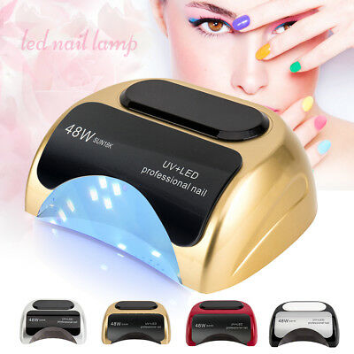 SUN5 48W LED UV Nail Lamp Light Gel Polish Dryer Manicure Art Curing AU Plug New