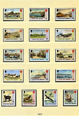 Isle of Man Full Commemorative Year Sets Unmounted Mint 1973 On wards